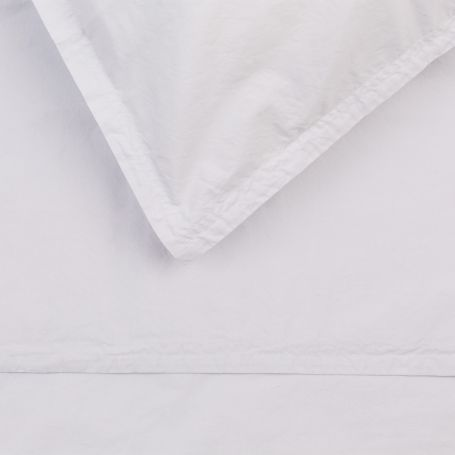 Washed Cotton Soft Grey Single Fitted Sheet