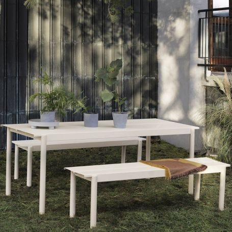 Linear Outdoor Steel Dining Table