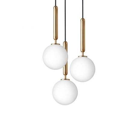 Miira 3 Pendant Light Brass