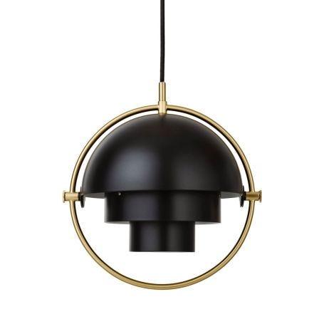 Multi-Lite Pendant Light Brass Frame Small