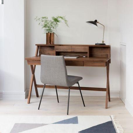 Navarra Desk With Top 3 Drawers Walnut