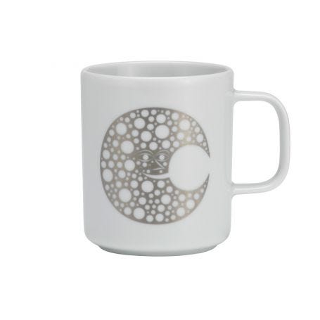 Coffee Mug Moon Silver