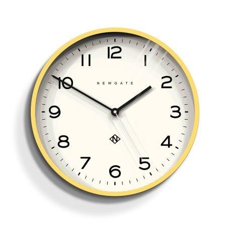 Echo Wall Clock Number Three Yellow
