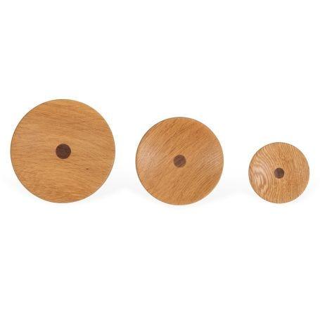 Unity Knob Oak with Walnut Set of 3
