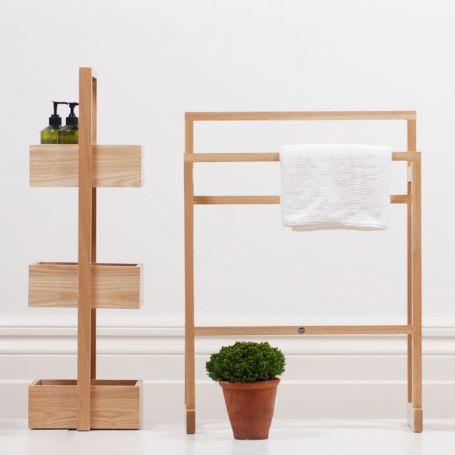 Bathroom Storage Stand Wood