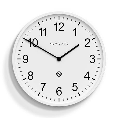 Professor Clock White