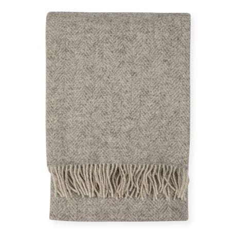 Pure Wool Throw Undyed