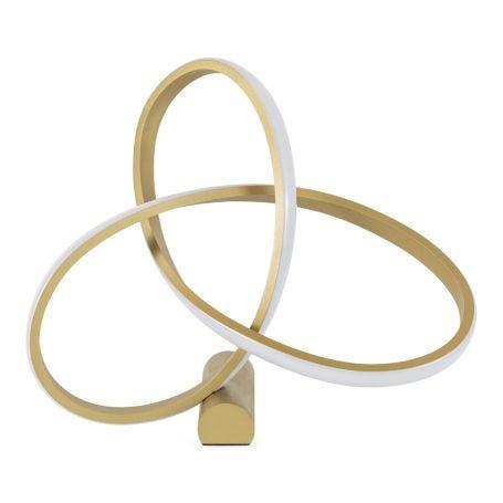 Ribbon LED Table Lamp Satin Gold