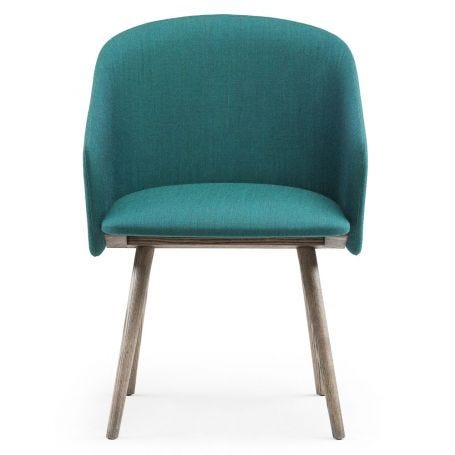 Saia Dining Chair in Canvas 2 984 with Black Oiled Ash Legs