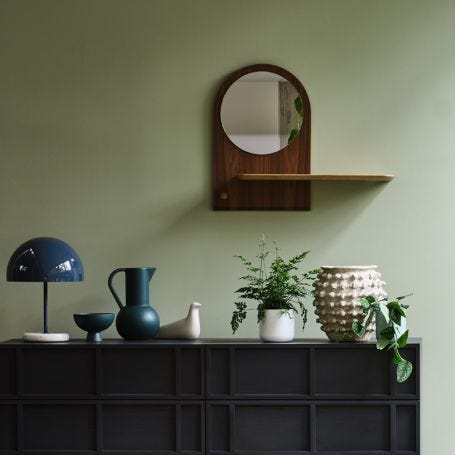 Unity Mirror with Shelf