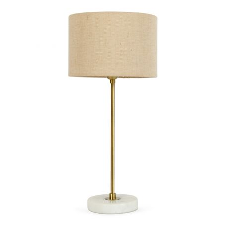 Simple Table Lamp White Marble Base With Shade