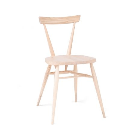Originals Stacking Chair in Clear Matt - Front View