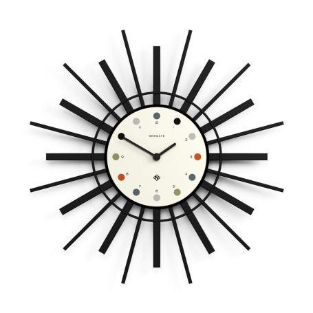 The Stingray Clock Black and White
