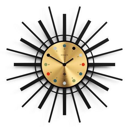 The Stingray Clock Brass and Black