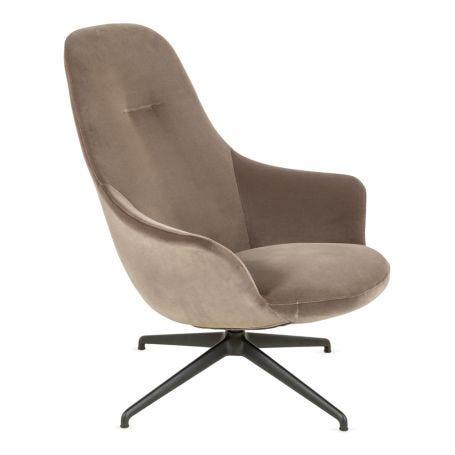 Sweep Swivel Chair Velvet Mink