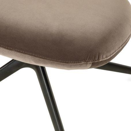 Sweep Swivel Footstool Velvet Mink