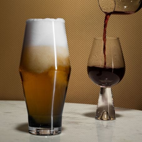 Tank Beer Glass Set of 2 Black