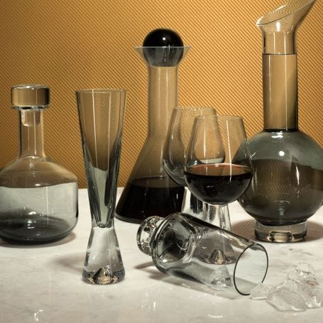 Tank Champagne Glasses Set of 2 Black