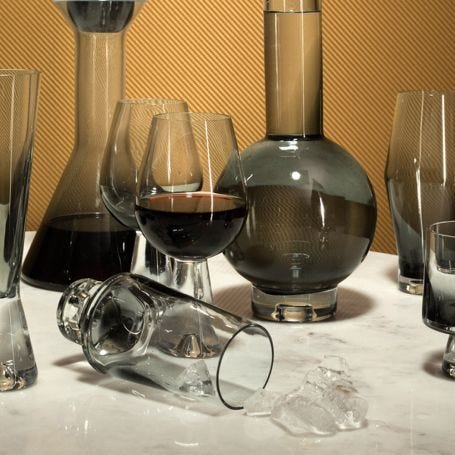 Tank High Ball Glasses Set of 2 Black