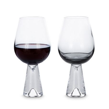 Tank Wine Glasses Set of 2 Black