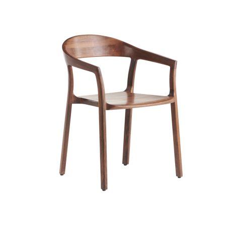 Tara Dining Chair Walnut Wooden Seat Walnut
