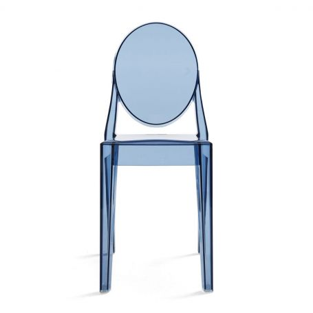 Victoria Ghost Chair in Crystal - Front View