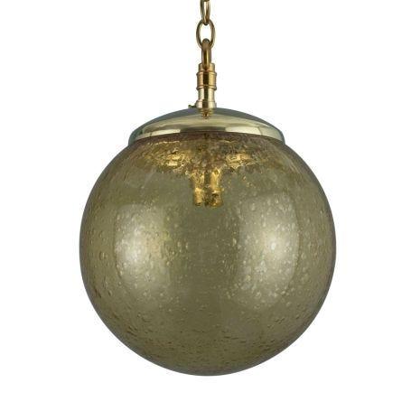 Vintage Czech Bubble Glass Pendant