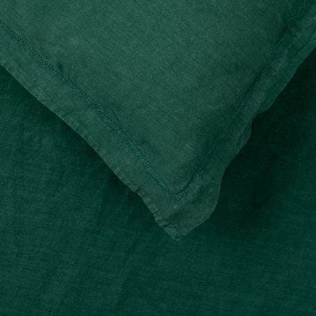 Washed Linen Bed Linen Forest Green
