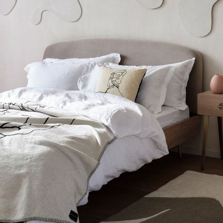 Washed Linen Bed Linen White