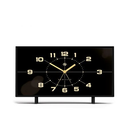 Wideboy Clock Black