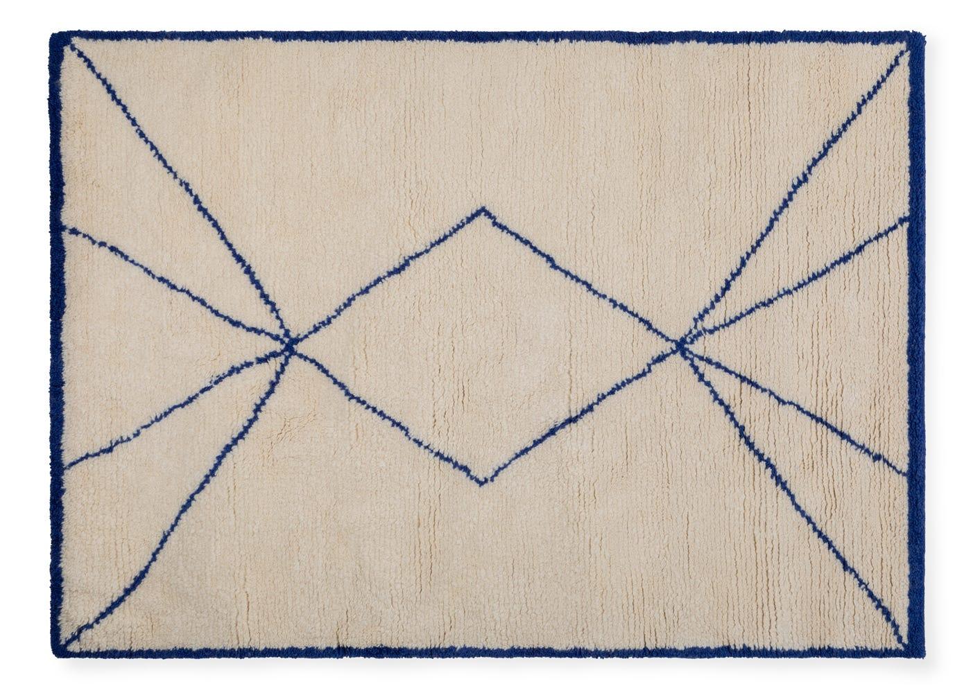 Linie Design Demantur Rug Blue 140 x 200cm