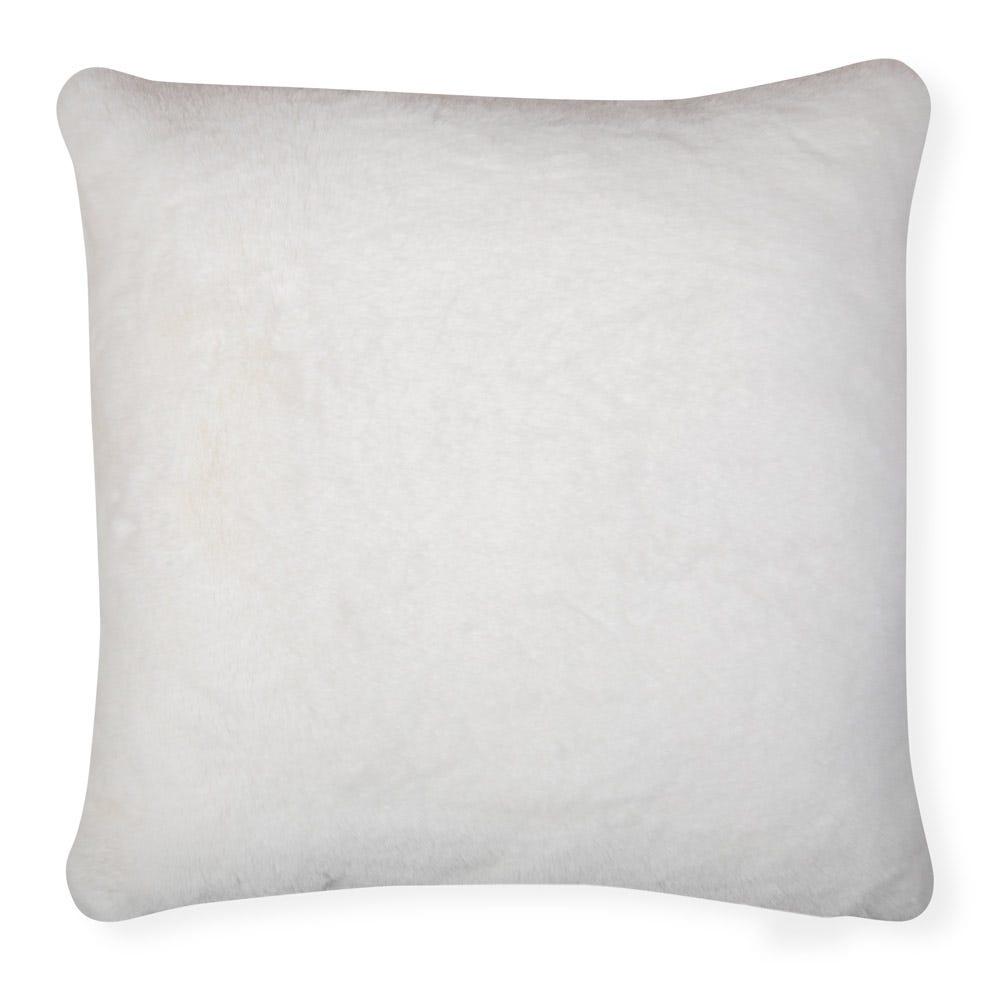 Heal's Faux Fur Cushion Cream 50 x 50cm