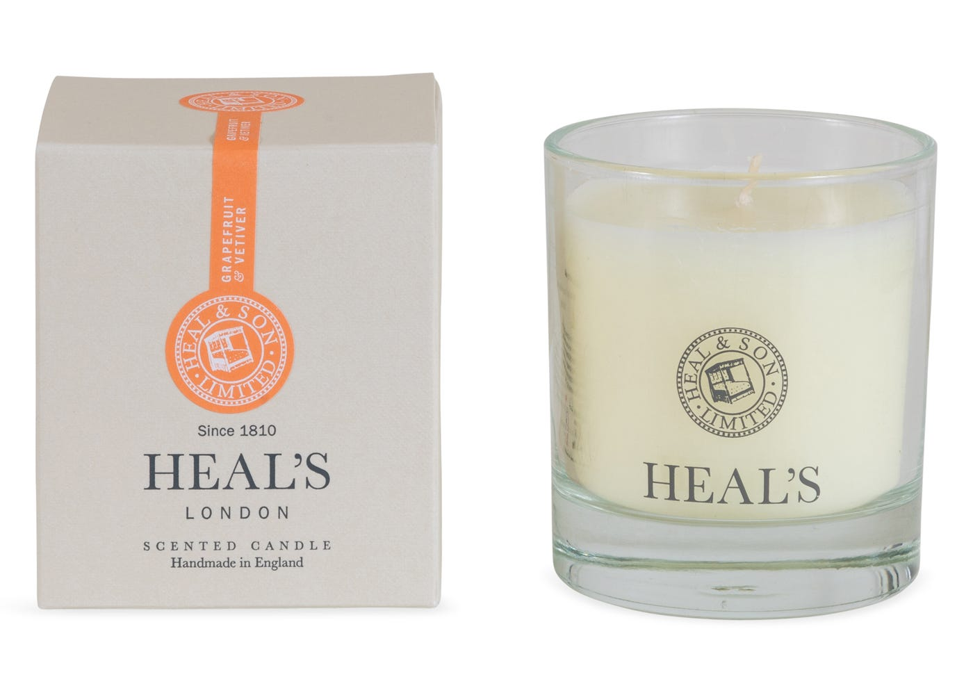 Heal's Grapefruit and Vetivert Scented Glass Candle