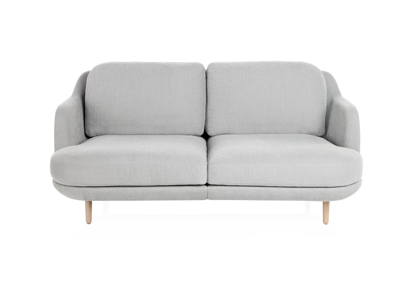 Fritz Hansen Lune 2 Seater Sofa Linara Eucalypytus Oak Legs