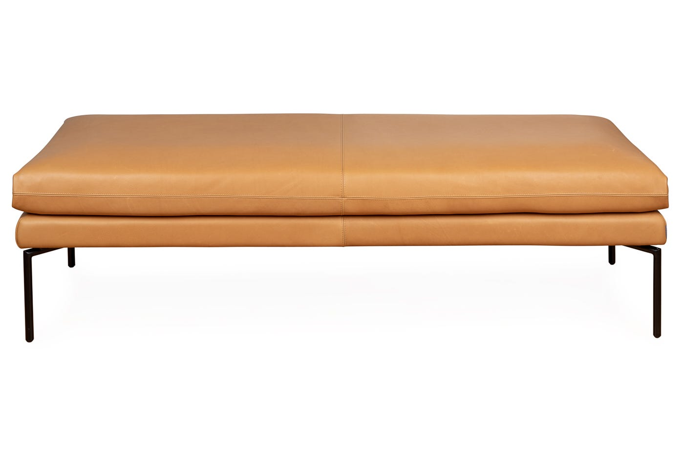 Heal's Matera Bench 180cm Leather Hide Chocolate 7182