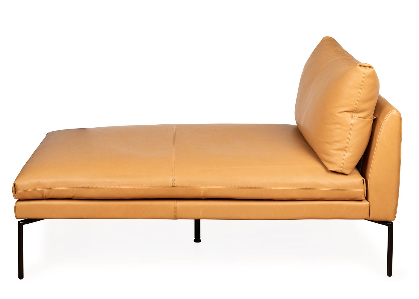 Heal's Matera Chaise Longue Leather Hide Chocolate 7182
