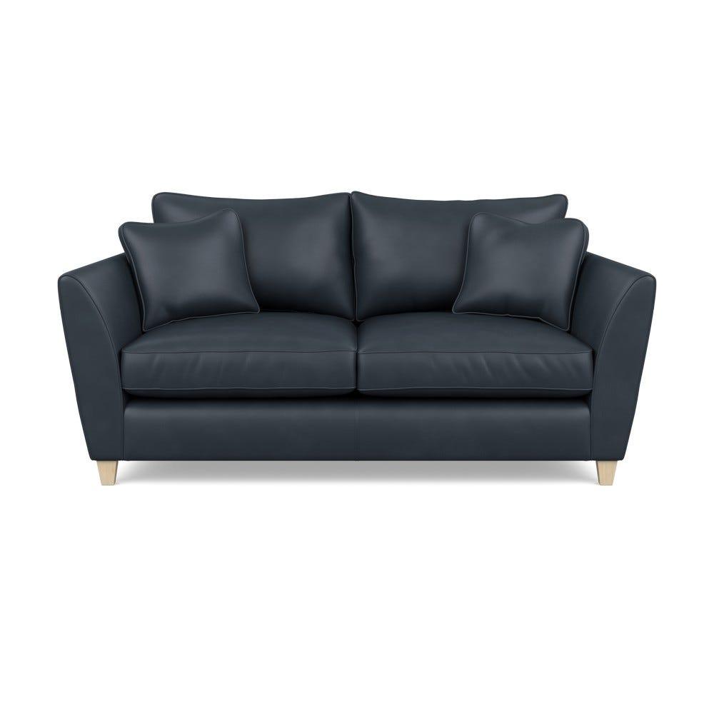 Heal's Torino 3 Seater Leather Sofa Leather Nero Natural Feet