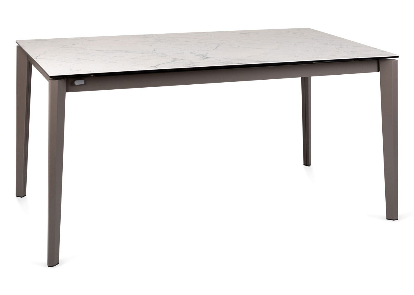 Heal's Rocca Ceramic Extending Dining Table Carrara White Ceramic Top Top