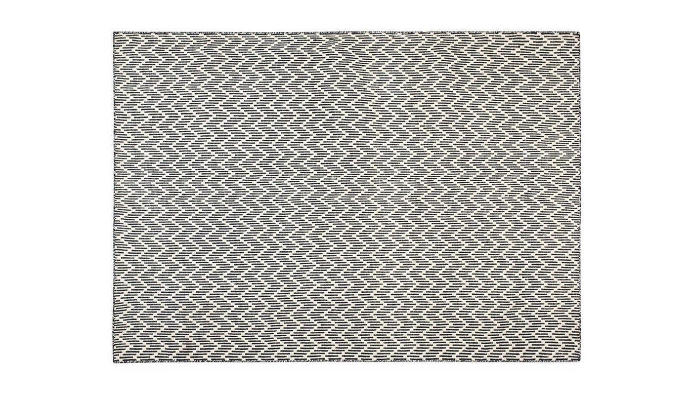 Linie Design Shimla Rug Black and White 170 x 240cm