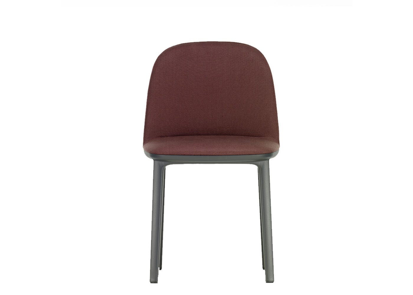 Vitra Softshell Side Chair Basic Base Linho Chestnut
