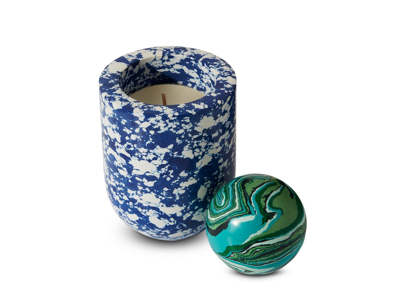 Tom Dixon Swirl Scented Candle with Ball
