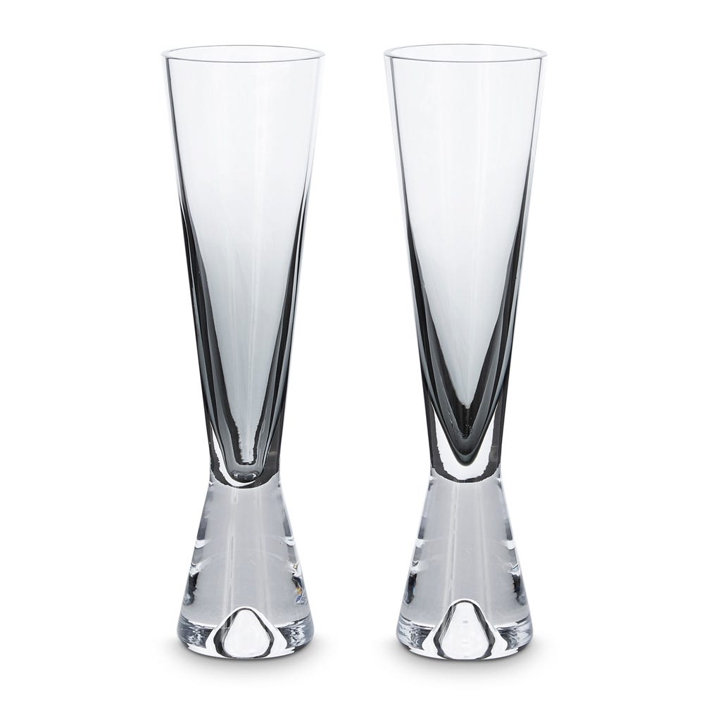 Tom Dixon Tank Champagne Glasses Set of 2 Black
