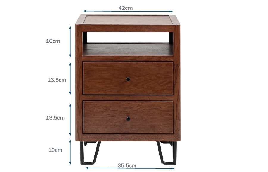 Brunel Desk Dark Wood