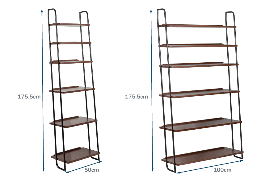 Brunel Lean To Shelves Dark Wood