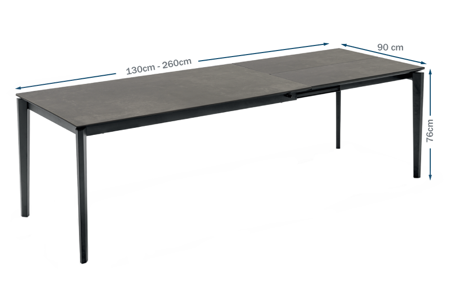 Rocca Ceramic Extending Dining Table