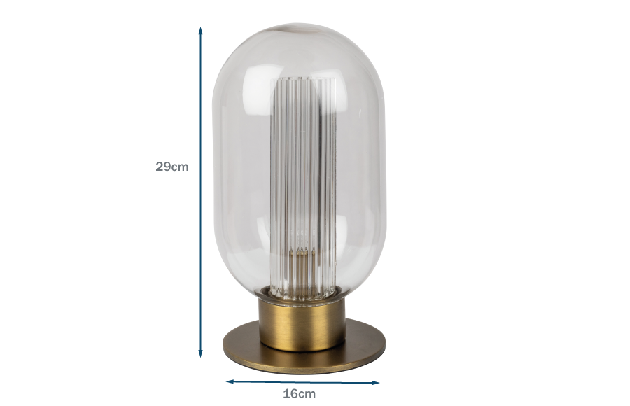Chicago Ribbed Glass Touch Lamp