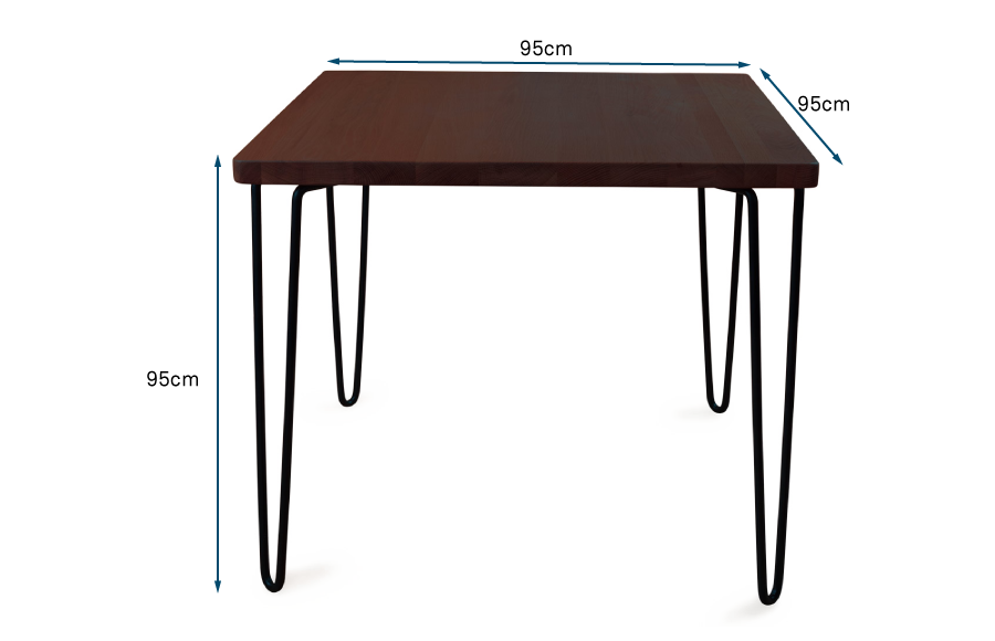 Brunel Dining Table Square Dark Wood