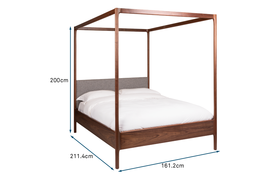 Marlow 4-Poster King-Size Bed Walnut