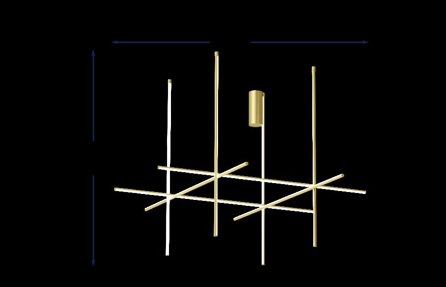 Coordinates C4 Long Pendant Champagne