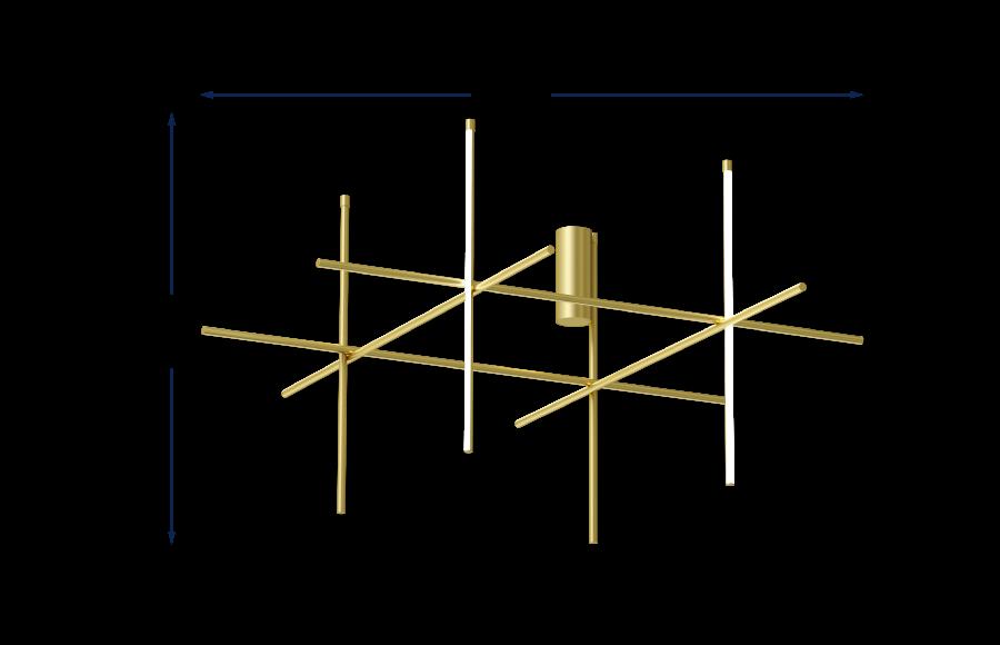 Coordinates C4 Pendant Champagne